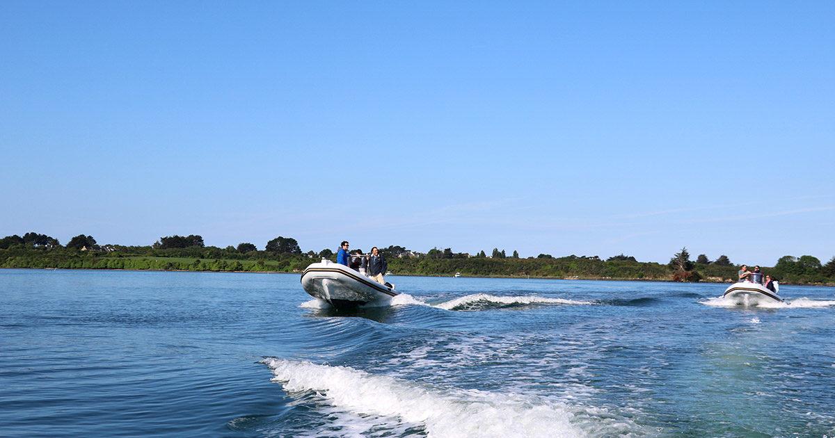 Rallye Zodiac dans le Golfe du Morbihan Séminaire