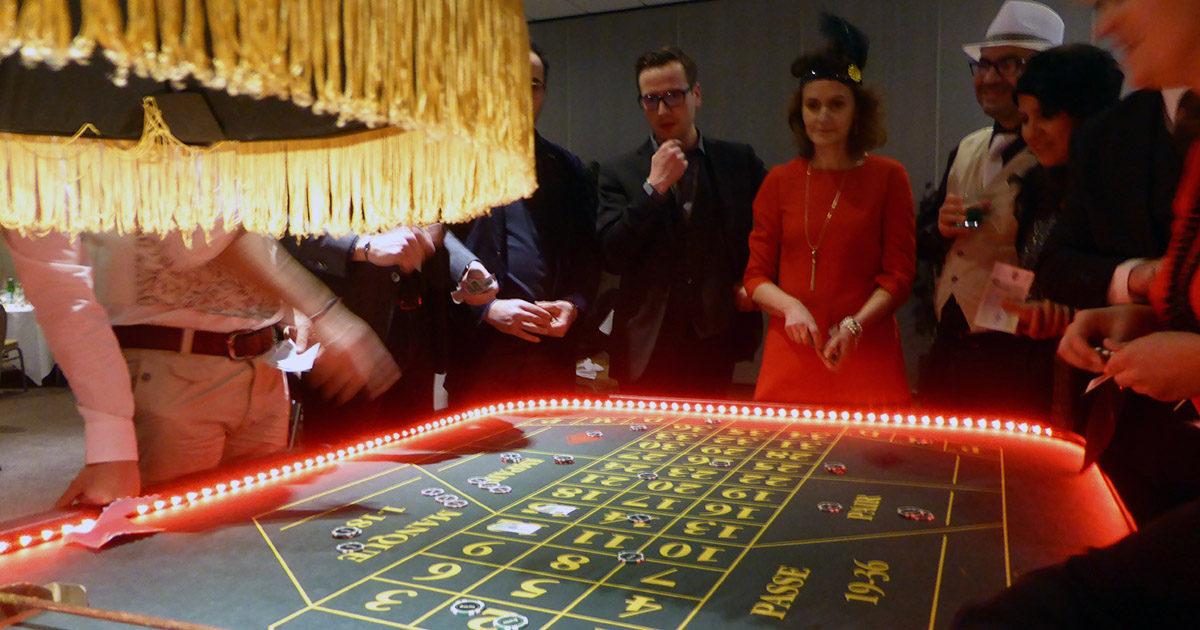 Soirée à thème casino lors d'un séminaire à Nantes